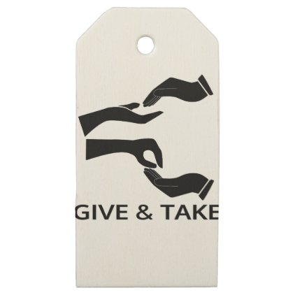 World for Give and Take Wooden Gift Tags