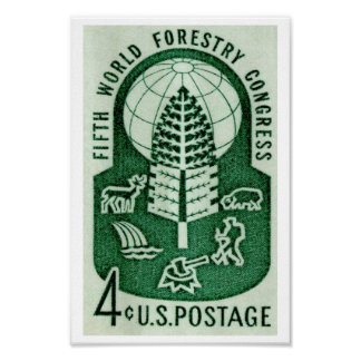 World Forestry Congress 1960 Poster
