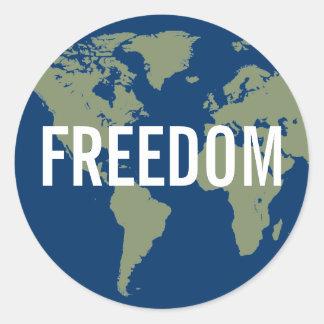 World Freedom Sticker