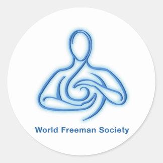 World Freeman Society Round Sticker