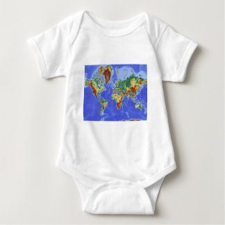 World Geographic International Map Baby Bodysuit