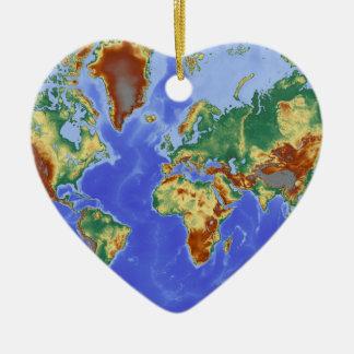 World Geographic International Map Ceramic Ornament