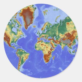 World Geographic International Map Classic Round Sticker