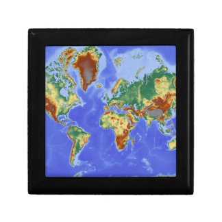 World Geographic International Map Jewelry Box