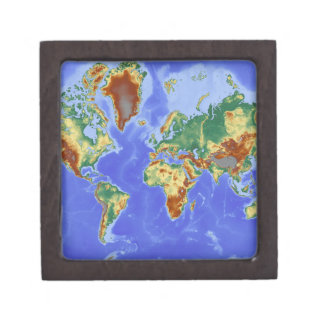 World Geographic International Map Keepsake Box