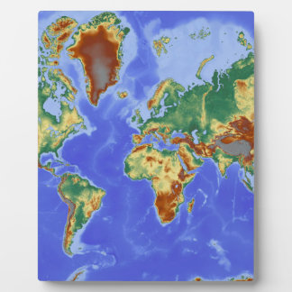 World Geographic International Map Plaque
