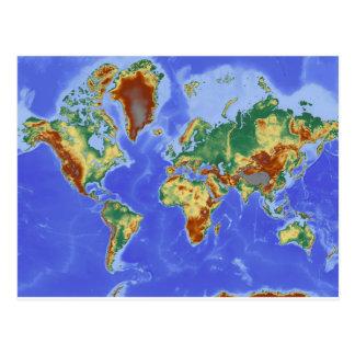 World Geographic International Map Postcard