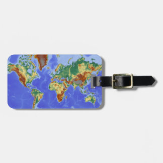 World Geographic International Map Tag For Luggage