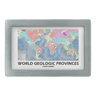 World Geologic Provinces (World Map Geology) Rectangular Belt Buckles