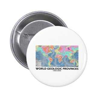 World Geologic Provinces (World Map Geology) Buttons