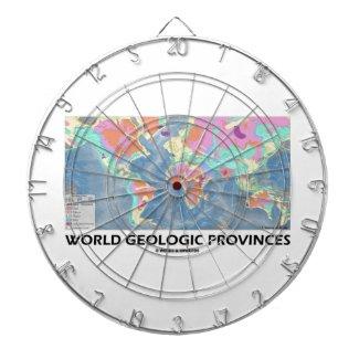 World Geologic Provinces (World Map Geology) Dart Boards