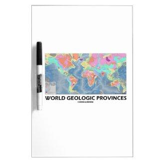 World Geologic Provinces (World Map Geology) Dry Erase Whiteboard