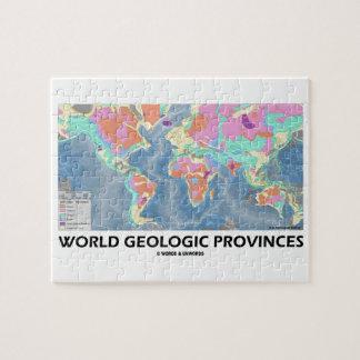 World Geologic Provinces (World Map Geology) Jigsaw Puzzle