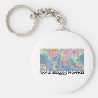 World Geologic Provinces (World Map Geology) Keychain