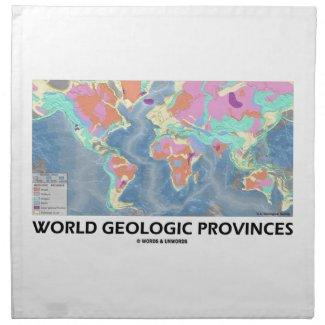 World Geologic Provinces (World Map Geology) Cloth Napkin