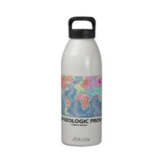 World Geologic Provinces (World Map Geology) Drinking Bottle