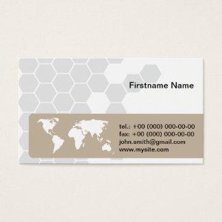 World Global Globe International Corporate Business Card