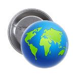 World Globe 2 Inch Round Button