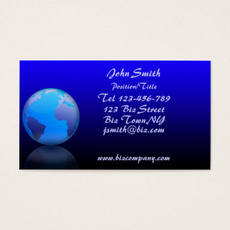 World Globe Business Card Template