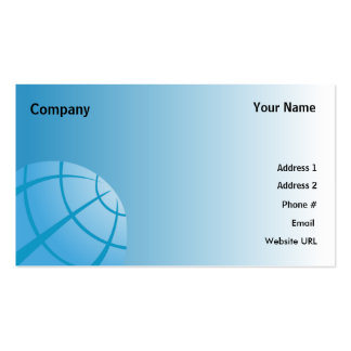 World Globe-Business Double-Sided Standard Business Cards (Pack Of 100)