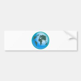 World Globe Car Bumper Sticker