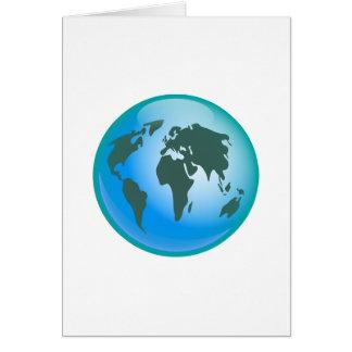 World Globe Greeting Card