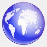 World Globe Classic Round Sticker