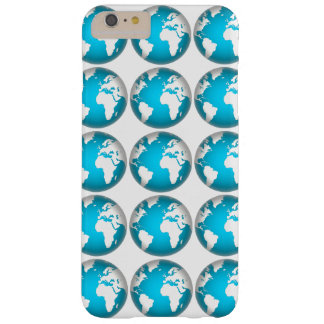 World, globe, continents. White and blue Barely There iPhone 6 Plus Case