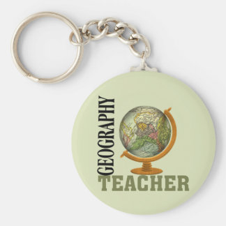 World Globe Geography Teacher Keychain