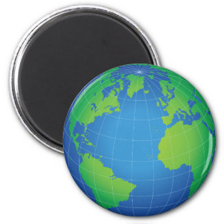 World Globe Map Magnet