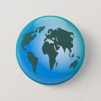 World Globe Pinback Button