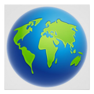 World Globe Print