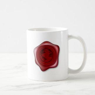 World Globe Sealing Wax Coffee Mugs