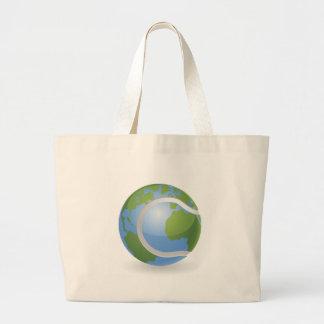 World globe tennis ball concept tote bags