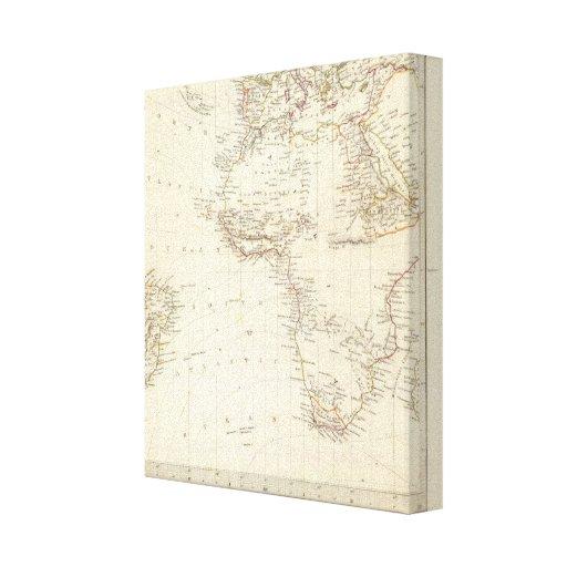 World, gnomonic proj I Africa and south Europe Canvas Prints