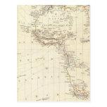 World, gnomonic proj I Africa and south Europe Postcard
