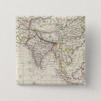 World, gnomonic proj IV Asia Pinback Button