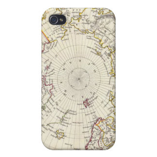 World, gnomonic proj V North Pole 45 N Lat iPhone 4/4S Case