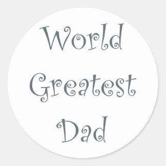 World Greatest Dad Classic Round Sticker