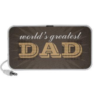 World greatest dad western style brown starburst portable speaker
