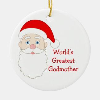 World Greatest Godmother Ceramic Ornament