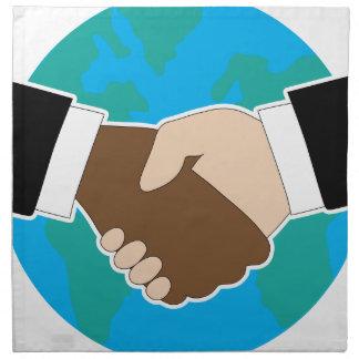 World Hand Shake Cloth Napkins
