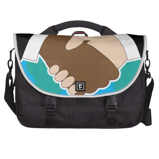 World Hand Shake Commuter Bag