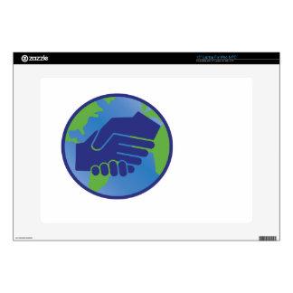 World Handshake Laptop Decals