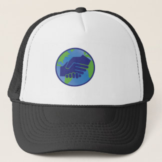 World Handshake Trucker Hat