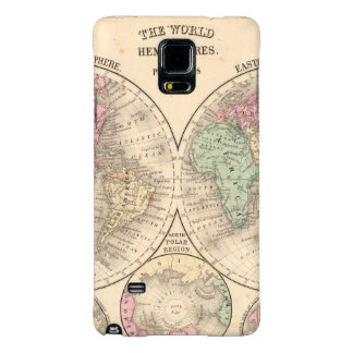 World hemispheres  Map by Mitchell Galaxy Note 4 Case