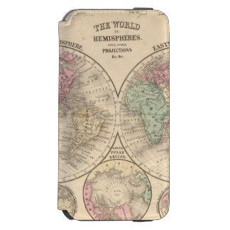 World hemispheres  Map by Mitchell iPhone 6/6s Wallet Case
