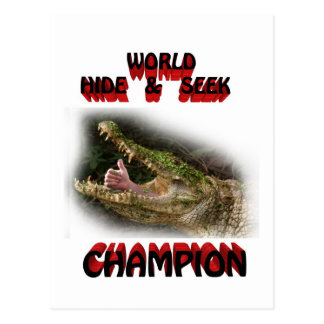 world hide & seek champion postcard