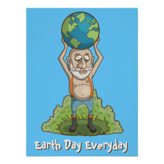 World Holder Green Earth Poster