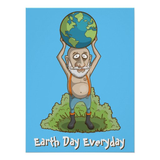 World Holder Green Earth Poster | Zazzle